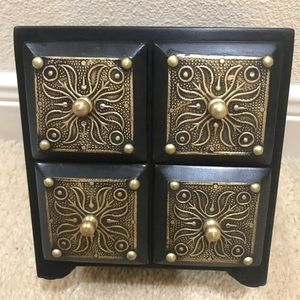 Wooden 4 drawer Jewelry Box